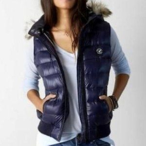 American Eagle Outfitters Down Hooded Puffer Vest